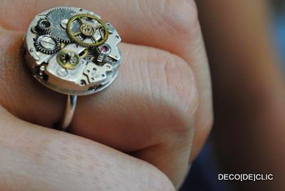 Comment réaliser une bague à partir d'un mécanisme de montre