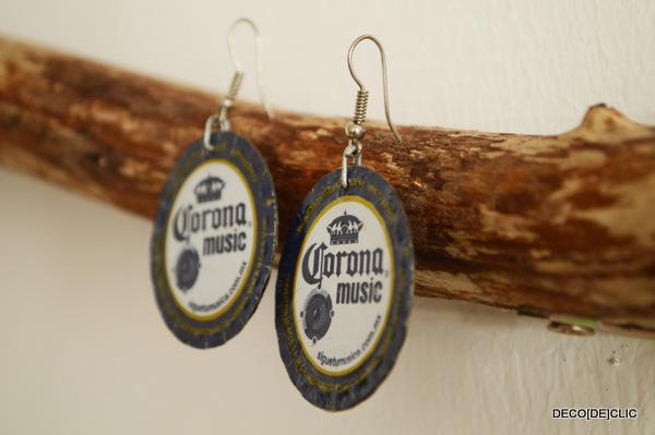 Cr ez vos propres bijoux id es d co originales partir de mat riaux de r cup ration - Capsule de biere deco ...