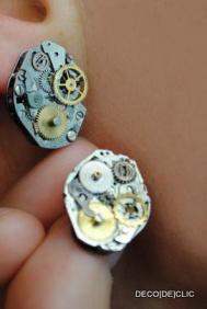Créez des boucles d'oreillles unique à partir de mécanisme de vieilles montre