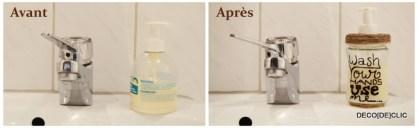 Créer un récipient pour savon à partir d'un pot en verre avec Decodeclic