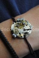 Création Decodeclic: bracelet pour femme réalisé à partir de mécanismes de montre