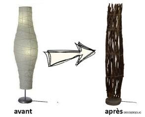 Customisez une lampe Ikea avec du bois