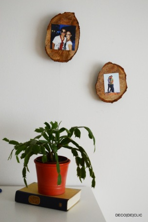 Créer une décoration murale à partir de souches de bois pour vos photos avec Decodeclic