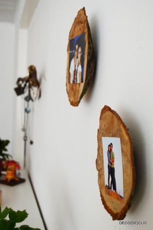 Créez des portes photos à partir de souches de bois avec Decodeclic