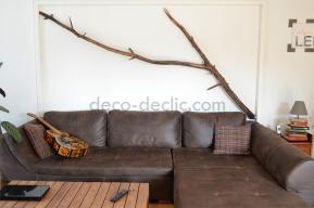 Utiliser une branche en tant que décoration murale