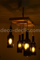Idée créative: réutilisez des bouteilles de vin pour en faire un luminaire