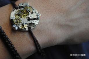 Réaliser votre propre bracelet avec Déco[De]clic à partir d'une vieux mécanisme de montre