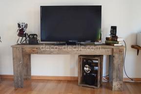 Créer un meuble télé à partir de bois de palette avec Decodeclic