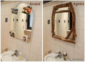Customisez un miroir en y ajoutant un cadre en bois fait maison