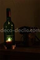 Créer un bougeoir à partir d'une bouteille de vin