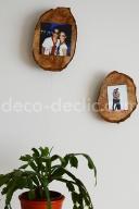 Des porte-photos réalisés à partir de souches d'arbre avec Decodeclic