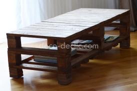 idée bricolage: réaliser une table basse à partir de bois de palette avec Decodeclic