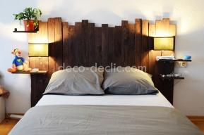 Créer une tête de lit à partir de bois de palette avec Decodeclic