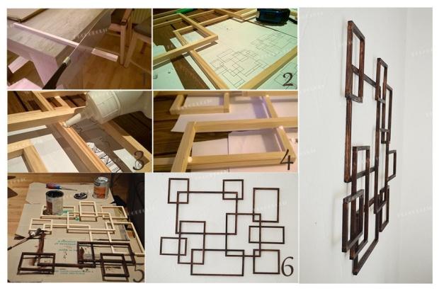 Un tutoriel facile à comprendre pour réaliser une décoration murale à partir de bois avec Decodeclic