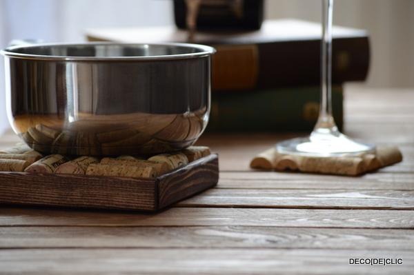 Bouchons de li ge id es d co originales partir de - Dessous de plat en bouchon ...