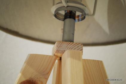 Comment construire une lampe de chevet en bois?
