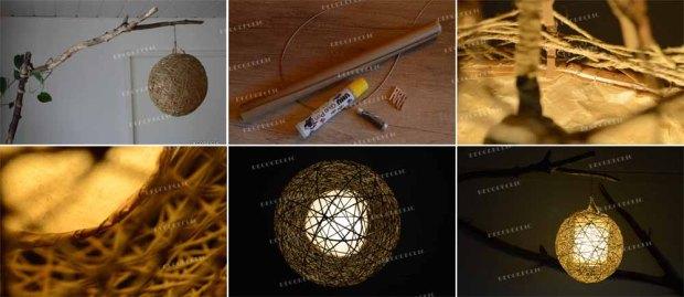 une lampe sur pied en bois idée création avec Décodeclic