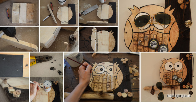 Bouchons de li ge id es d co originales partir de for Fabriquer un porte bijoux mural