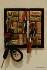 Un porte-clef en bouchon de liège pour votre entrée avec Décodeclic
