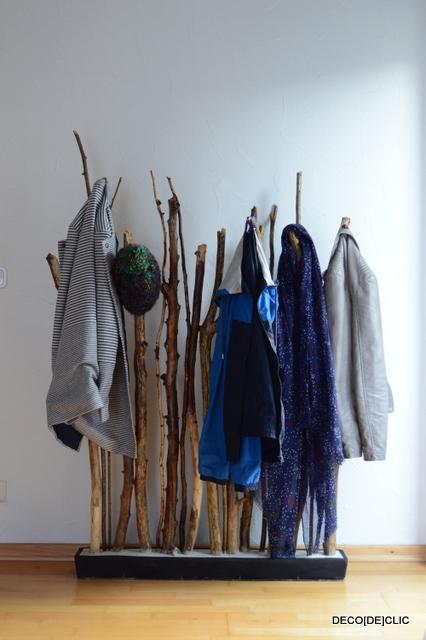 bois et palettes ? idées déco originales à partir de matériaux de ... - Fabriquer Un Porte Manteau En Forme D Arbre
