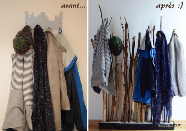 Personnalisez votre porte-manteau avec du bois