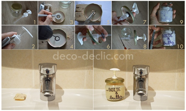 Créer un porte-savon à partir d'un pot en verre avec Decodeclic