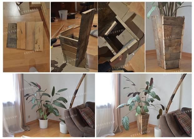 Fabriquer un pot en palette pour mettre en valeur votre plante