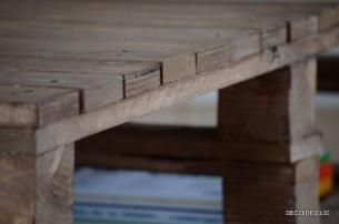 Réalisez une table basse de salon au look hipster avec des palettes avec Déco[De]clic