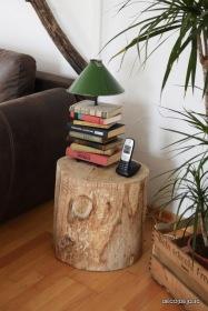 Une table basse à partir d'une souche de bois avec Decodeclic