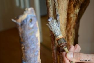 Créez un porte-manteau en bois à partir de tronc d'arbre